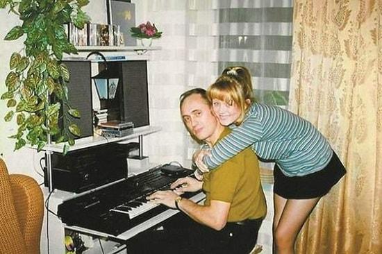 Юля со своим отцом, композитором Виктором Началовым