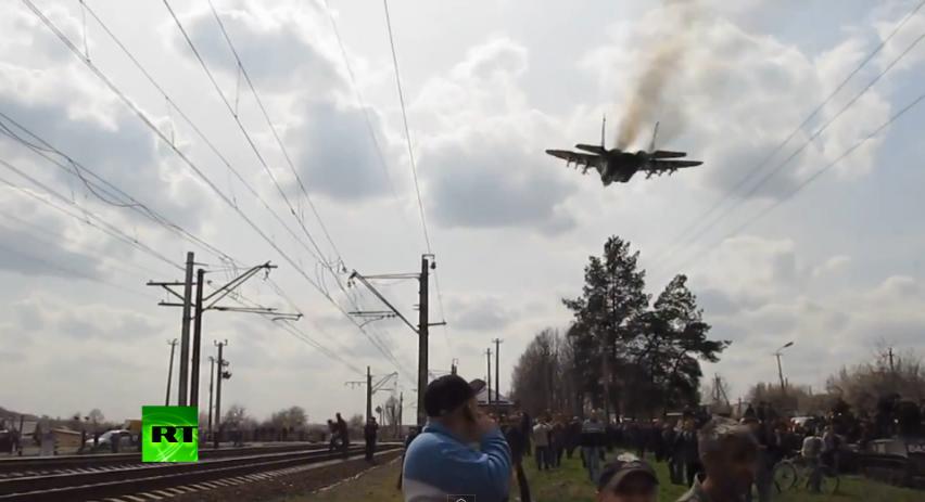 Жителей Краматорска пытался испугать украинский МиГ