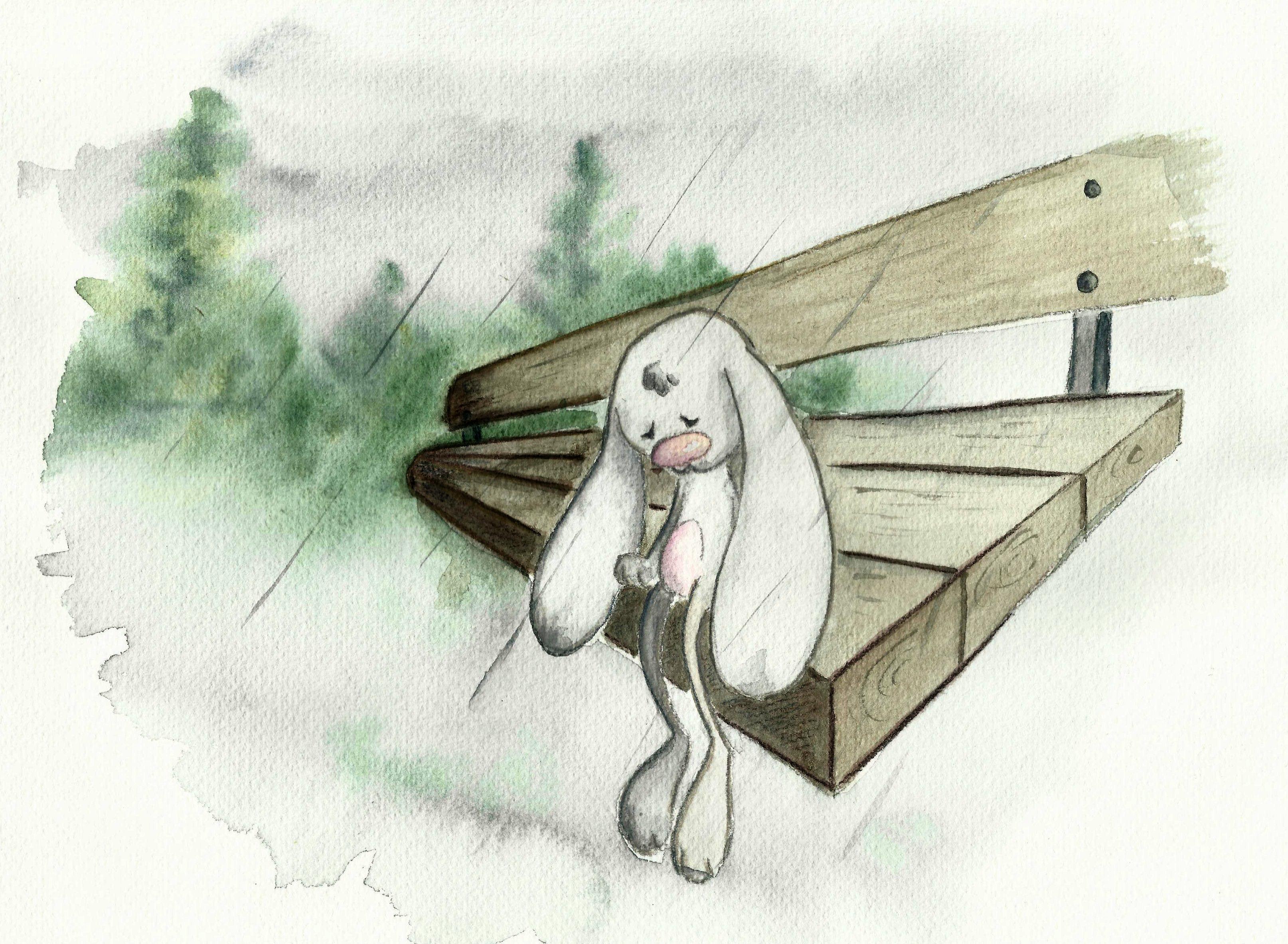 картинки грустный зайчик