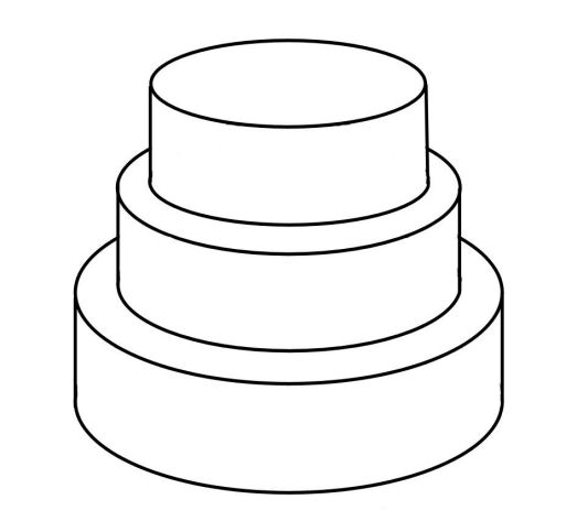Universal image for cake templates printable