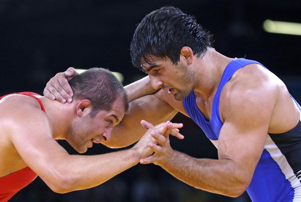 Борец из Кыргызстана Магомед Мусаев против борца из Турции BALCI Serhat