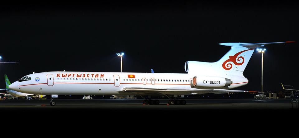 03 Президентский самолет Ту-154 EX00001 на стоянке в аэропорту Haneda в Токио