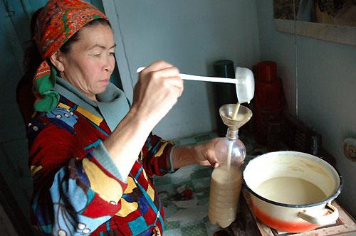 Процесс приготовления бозо