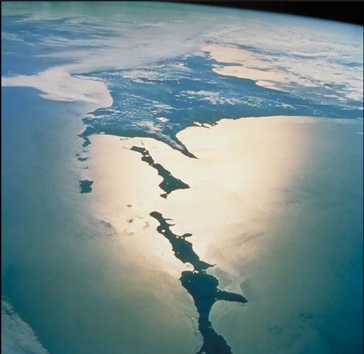 Курильские острова из космоса