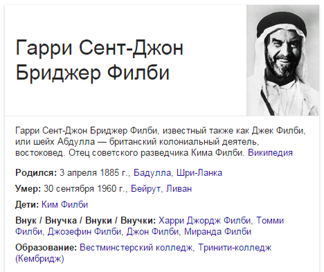 Гарри Сент-Джон Бриджер Филби
