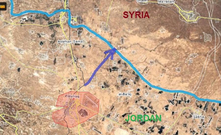 военные США выдвинулись из Иордании карта
