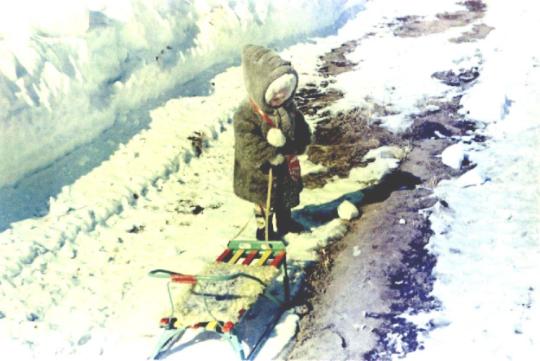 Сахалин, зима 1990 (приблизительно) года.