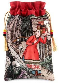 Beautiful Vassilisa, fairytale silk tarot bag, drawstring pouch.