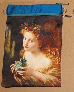 fairytale silk and satin printed shoulder pouch purse. By Baba Studio, Prague.