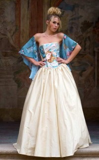 Alice in Wonderland corset and shawl