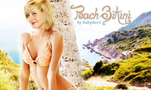 Peach Bikini - Banner by Jennyspring