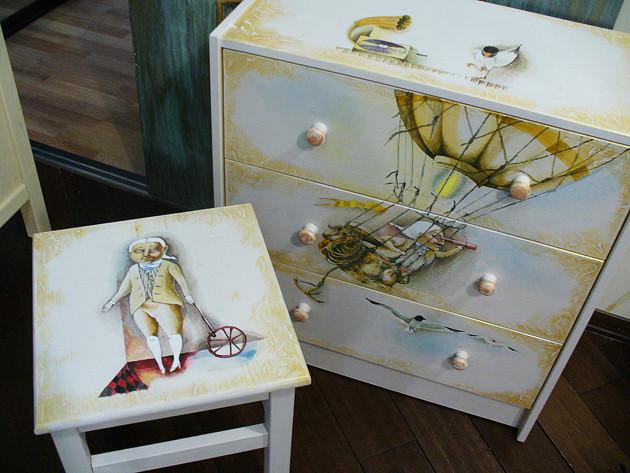 Роспись детской мебели - Марина Дайковская