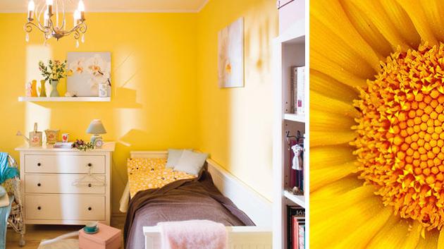 желтый цвет в детской комнате