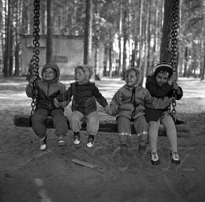 В московском парке. 1960-е. Фото: Б. Покровский