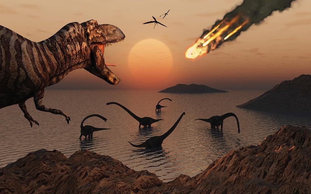 динозавры и метеорит
