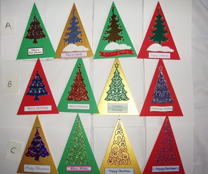 Triangular Tree Cards