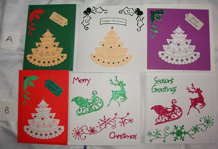 Tannenbaum Trees & Glitter Cards