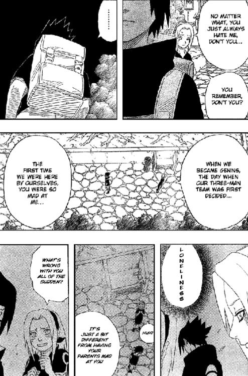 The Nature of Sasuke's feelings for Sakura using manga