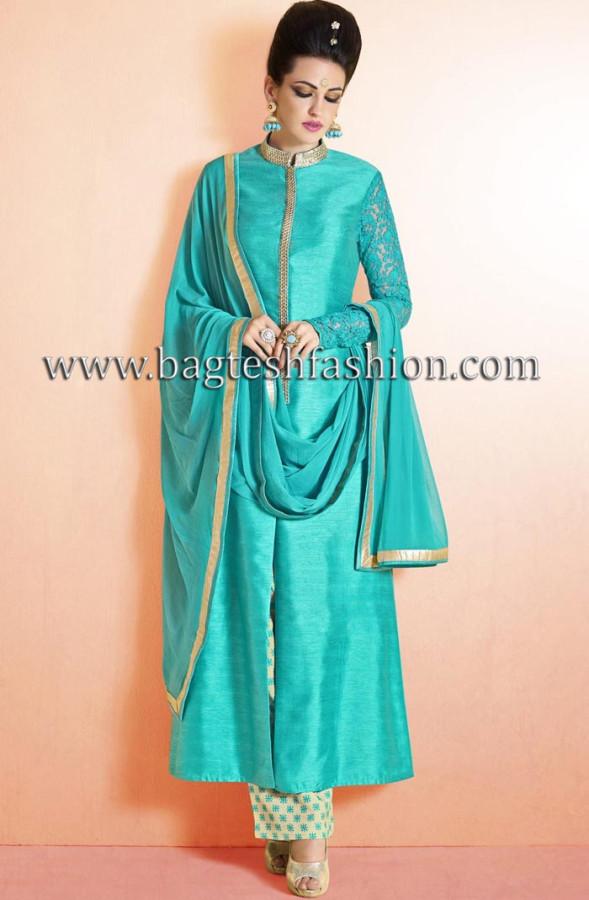 Beautiful Sky Blue Designer Suit