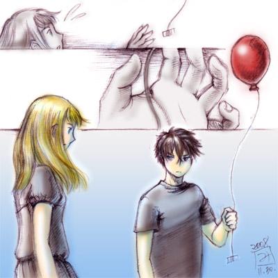 Illustration Friday: Balloon, by Miyuki Mouse