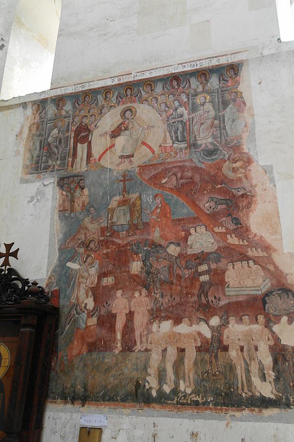 Ананури. Фреска церкви Успения. Страшный суд