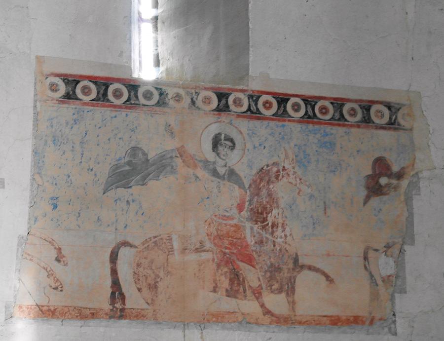 Святой Георгий. Фреска в Ананури, церковь Успения