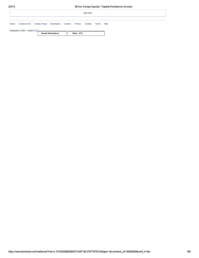 Birinci Avropa Oyunları Təşkilat Komitəsinin ilk iclası albomundaki sherhler- page-006