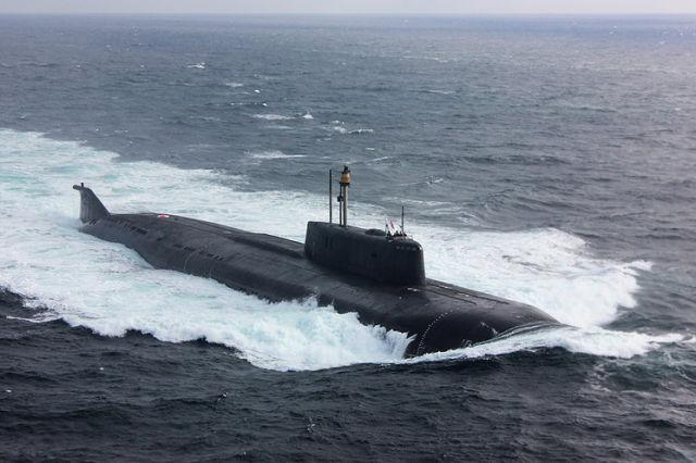 """АПКР """"Орел"""" проекта 949А Северного флота в Балтийском море."""