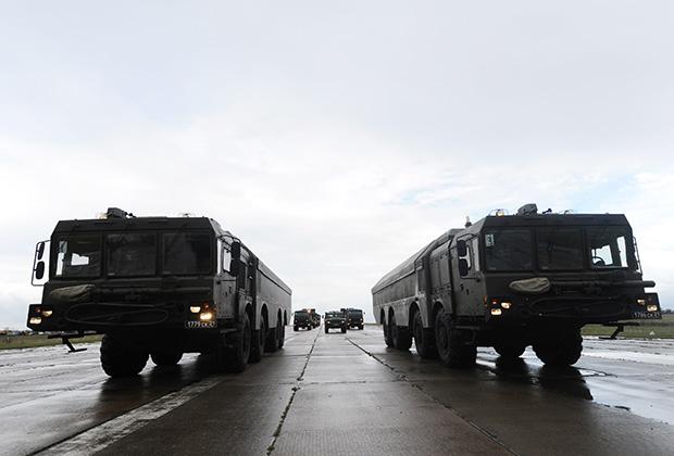 """На марше ПБРК """"Бастион"""" 15-ой отдельной береговой ракетной бригады ЧФ."""