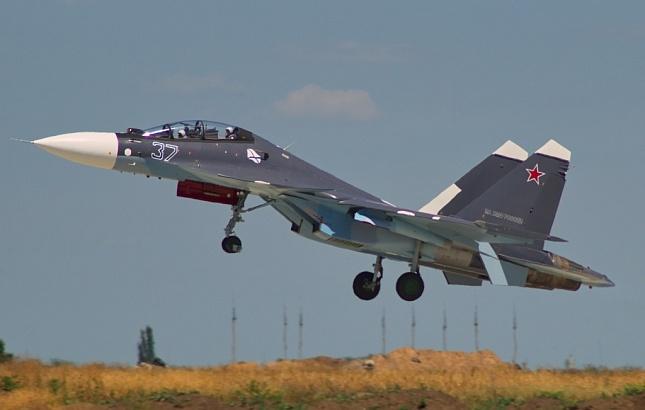 """Многоцелевой истребитель """"Су-30СМ"""" МА ЧФ"""