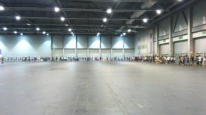 Goods booth queue