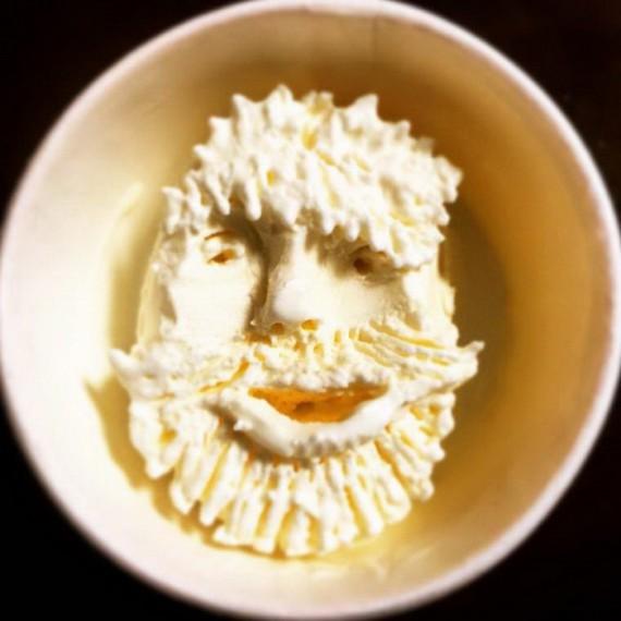 Японский художник создает лица из мороженого