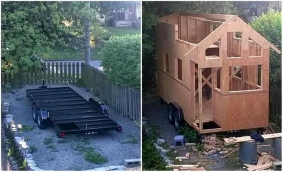 Самодельный дом на колесах, построенный женщиной