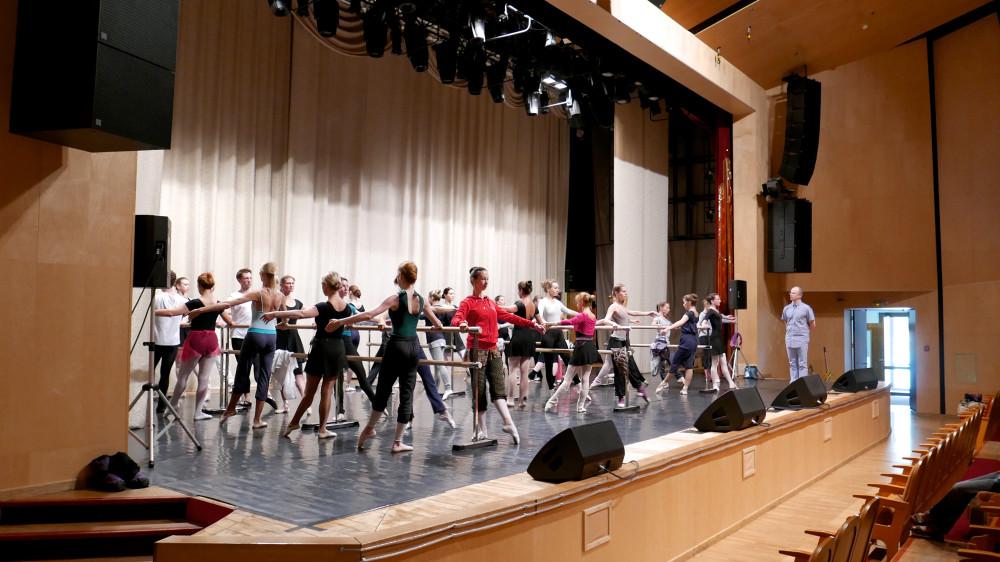 Урок перед концертом. Балет для взрослых.