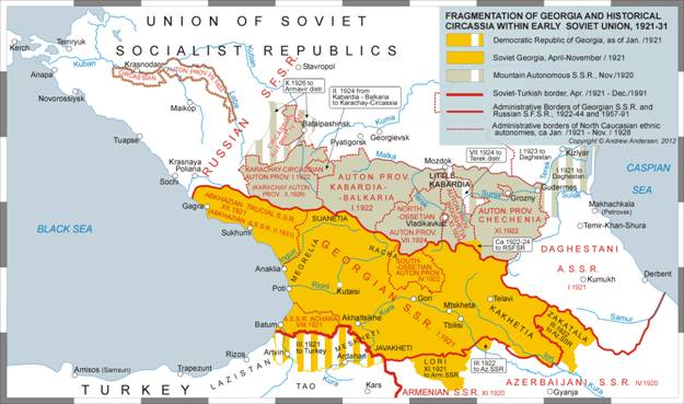 Soviet Georgia Map.Fragmentation Of Oppressed Nations As An Instrument Of Keeping W