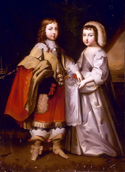 A_young_King_Louis_XIV_with_his_brother_the_Duke_of_Orléans_attributed_to_the_Beaubrun_brothers