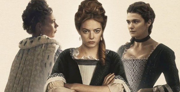 Olivia-Colman-Emma-Stone-and-Rachel-Weisz-in-The-Favourite