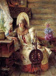 7. Маковский Константин Егорович. Боярышня у окна