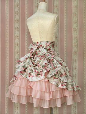 FairyDollRococoSkirt-pink-back