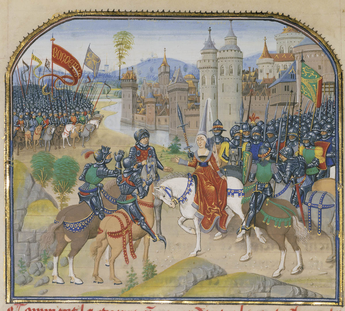 Battle Between Arnault de Lorraine and His Wife Lydia-