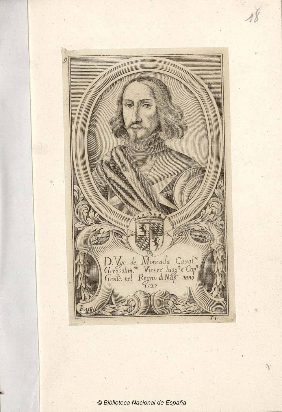 Retrato de Hugo Moncada - аноним, XVII век