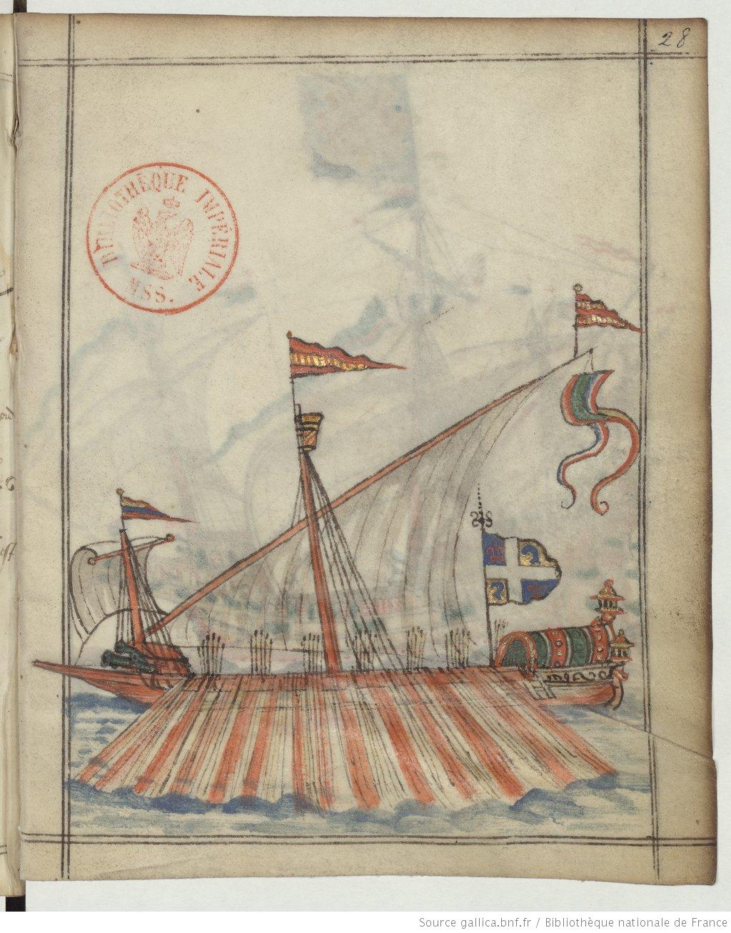 galeaza with dauphin's flag [28r]