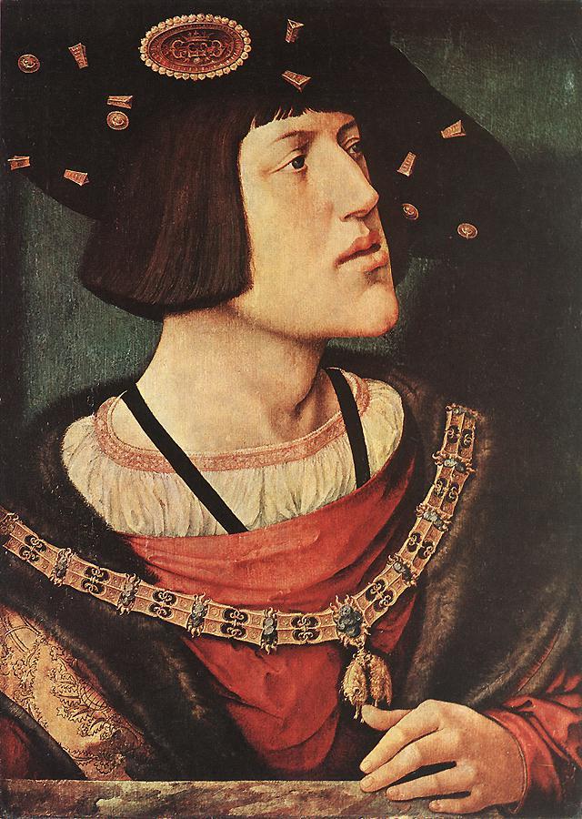 Portrait of Charles V by Bernaert Van Orley, 1519-1520