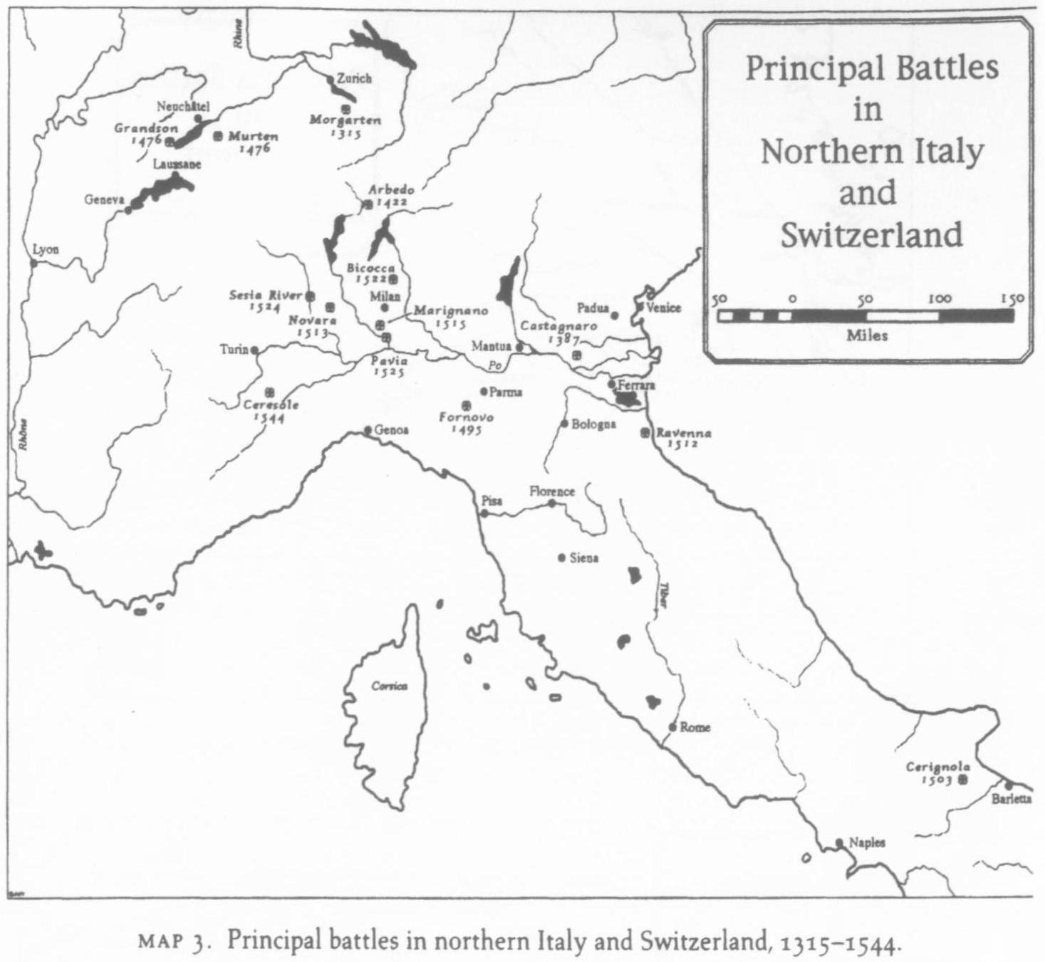 Сражения 1315-1544