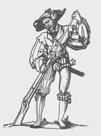 Landsknecht by Hans Sebald Beham-1540