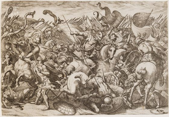 Cavalry and Infantry Battle