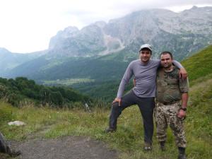 Вид на лагерь с Армянского перевала