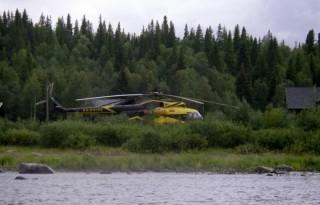 Вертолет, на котором доставляю иностранцев