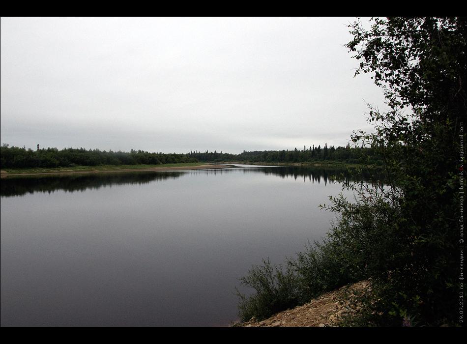 река, на которой стоит кемпинг