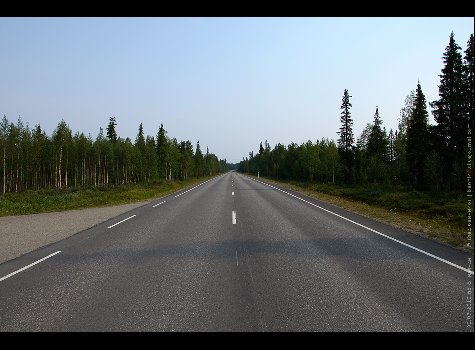 roads in finland | e75 between ivalo and sodankylä